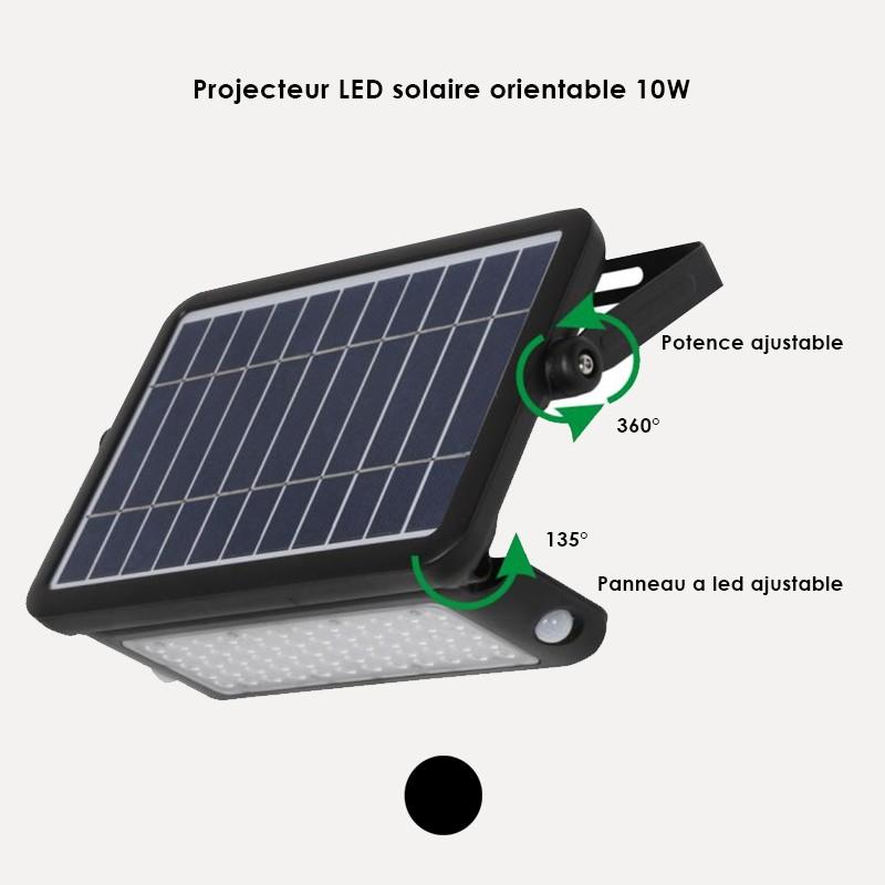 Projecteur LED solaire orientable