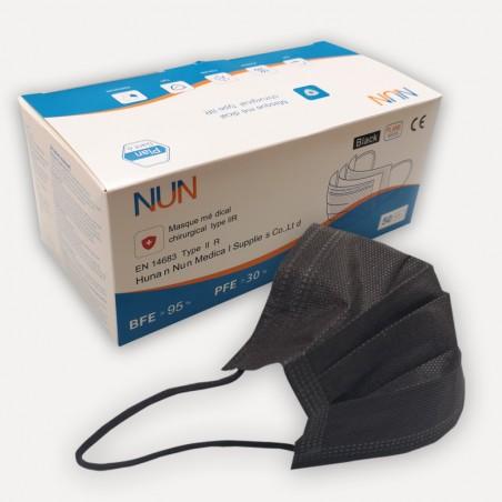 Masques de protection Noirs - Lot de 50