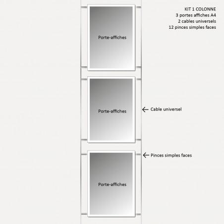 Kit 1 colonne - 3 portes affiches - A4 vertical