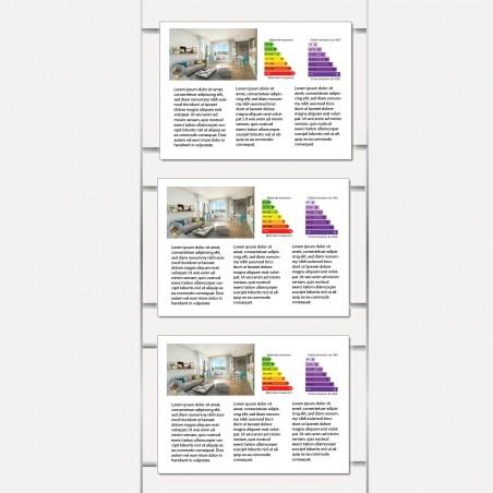 Kit 1 colonne - 3 portes affiches - A4 horizontal